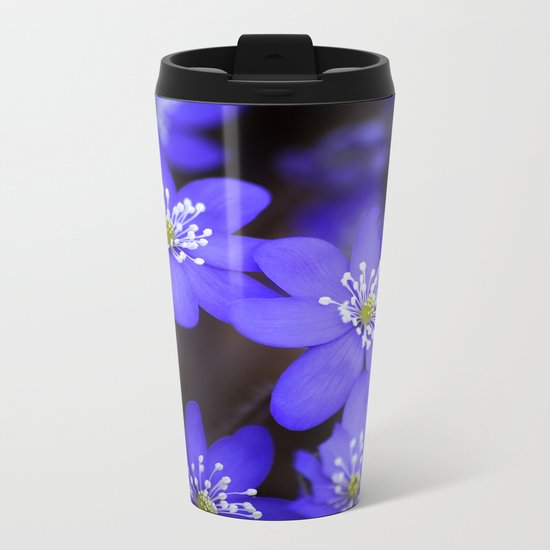 First Spring Flowers  Metal Travel Mug