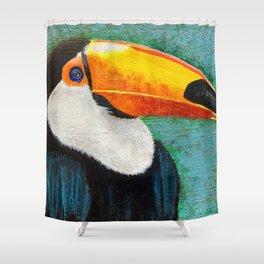Colorful Toucan portrait Shower Curtain
