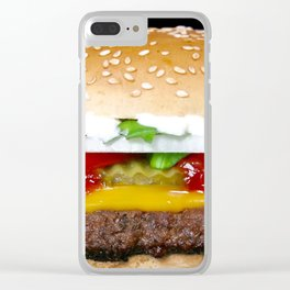 Burger Meister Clear iPhone Case