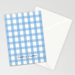 Indigo Gingham Stationery Cards