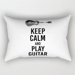 Keep Calm And Play Guitar funny musician gift Rectangular Pillow