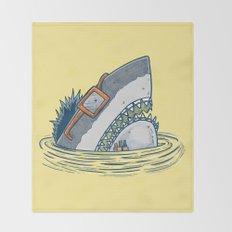 The Nerd Shark Throw Blanket