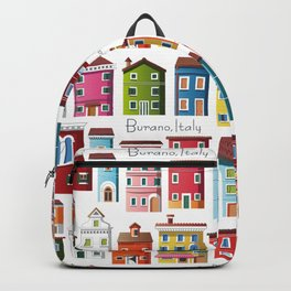 Burano, Italy (pattern) Backpack