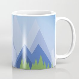 Mountains and Pine Forests Coffee Mug