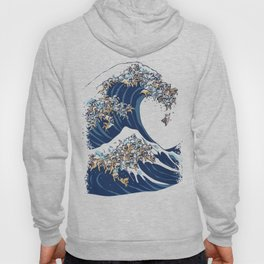 The Great Wave of English Bulldog Hoody