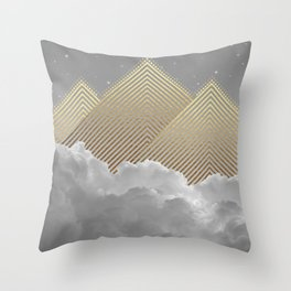 Silence is the Golden Mountain Throw Pillow