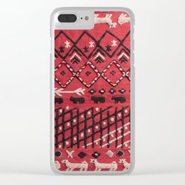 V22 Sheep herd Design Traditional Moroccan Carpet Texture. Clear iPhone Case