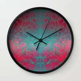 """Abstract psychedelic waves"" Wall Clock"