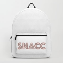 SNACC - rose gold quote Backpack