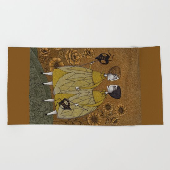 To Save the BEES! Beach Towel