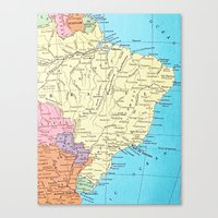 brazil Canvas Prints featuring Brazil by inourgardentoo