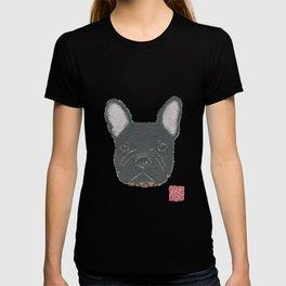 Black French Bulldog, FRENCHIE, Dog T-shirt