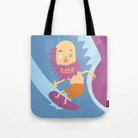 surf Tote Bags featuring Surf! by DooDoo
