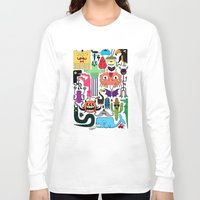 monsters Long Sleeve T-shirts featuring Monsters by Fran Court