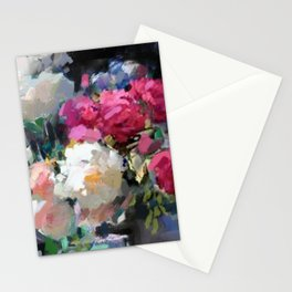 Still Life with White & Pink Roses Stationery Cards