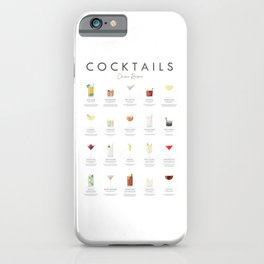 Cocktail Chart - Classic Cocktails iPhone Case