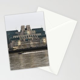 SIS Secret Service Building London And Rib Boat Stationery Cards