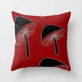 Whimsical Mushrooms #Pattern #Nature #DigitalArt Throw Pillow