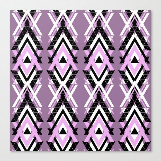 Geometric Columns - Pastel Purple Triangles Pattern Canvas Print