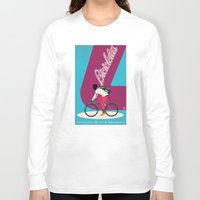cycling Long Sleeve T-shirts featuring Cycling by Carlos Hernandez