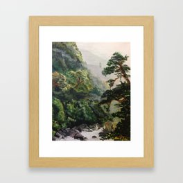 Misty Jungles of Nepal Framed Art Print