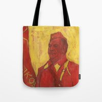 soviet Tote Bags featuring Soviet by Gokhan Gokseven