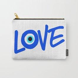 LOVE Greek Eye Design Carry-All Pouch