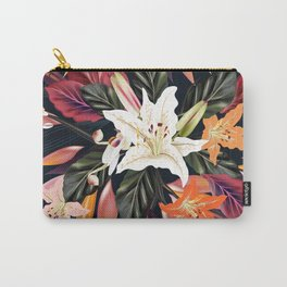 New luxury floral art : Black Carry-All Pouch