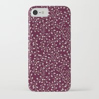 burgundy iPhone & iPod Cases featuring Burgundy by Lisi Fkz