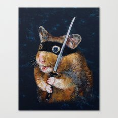 Ninja Hamster Canvas Print