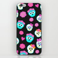 sugar skulls iPhone & iPod Skins featuring Sugar skulls by Eviedoll