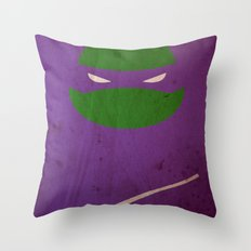 TMNT Donnie poster Throw Pillow