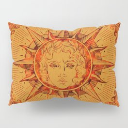 Apollo Sun God Yellow and Red Marble Pillow Sham