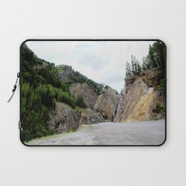 Drive Around the Curve onto a Shelf Above the Spectacular, but Frightening, Uncompahgre Gorge Laptop Sleeve