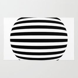 Blender Horizontal Striped Sphere 2 Color Rug