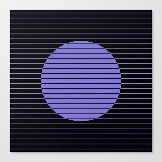 Difference (Minimalistic, pastel blue and black, geometric design) Canvas Print