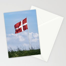 Dannebrog in the wind (Danish national flag) Stationery Cards