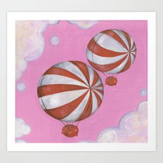 Peppermint Piggies Art Print