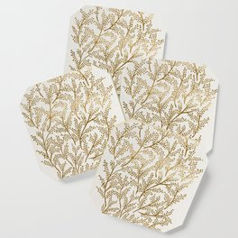 Gold Branches Coaster