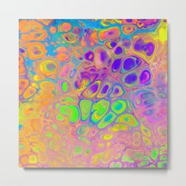 Psychedelic Cells Metal Print