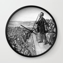 President Lincoln Delivering The Gettysburg Address Wall Clock
