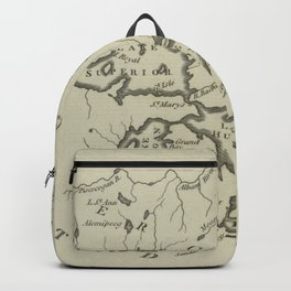 Vintage Map of The Great Lakes (1794) Backpack