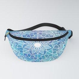 Mandala blue Fanny Pack