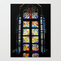 stained glass Canvas Prints featuring Stained Glass by Sean Foreman