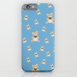 Teddy Bears - Blue iPhone Case