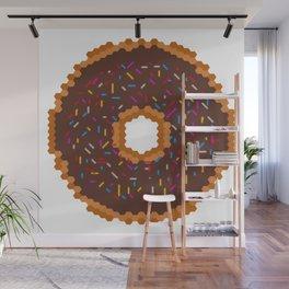 Chocolate Donut Wall Mural