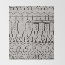 (N7) Original Moroccan Brown Artwork Throw Blanket