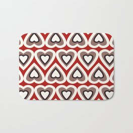 Strawberry and Chocolate Cream Love Hearts Bath Mat