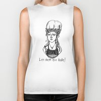 marie antoinette Biker Tanks featuring Hipstory Lessons: Marie Antoinette by Natalie Easton