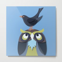Birdfriends Metal Print